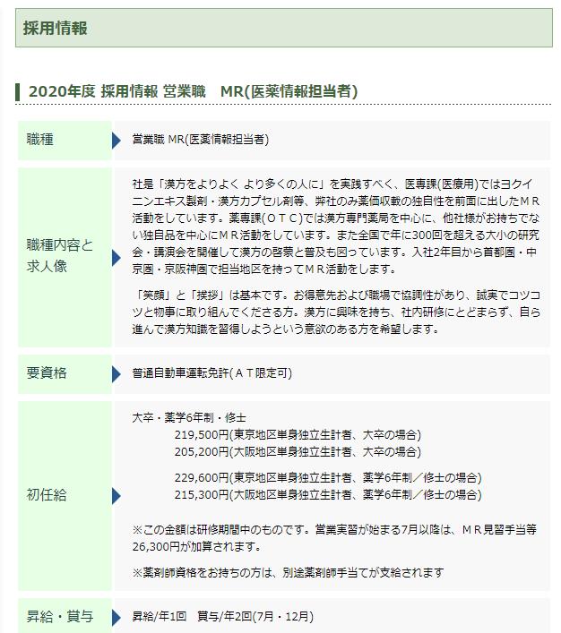 小太郎漢方製薬株式会社 採用情報